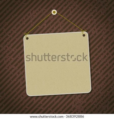 vintage sign on dark rusty background - stock vector