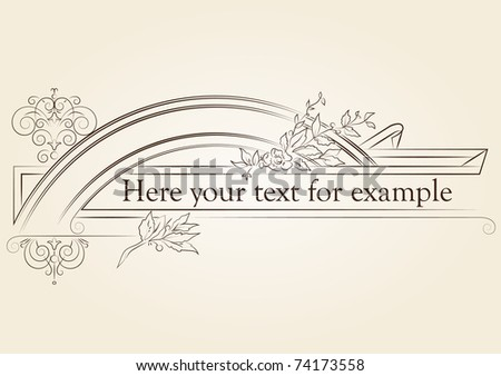 vintage signboard with place for your text - stock vector