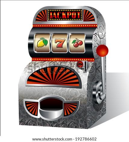 Vintage slot machine - stock vector