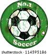 vintage soccer sign,design element, vector illustration, eps 10 - stock vector