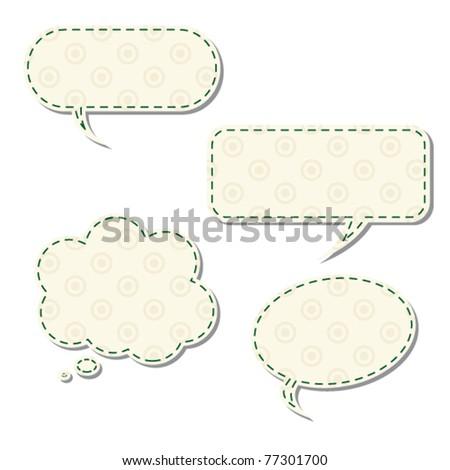 Vintage speech bubbles - stock vector