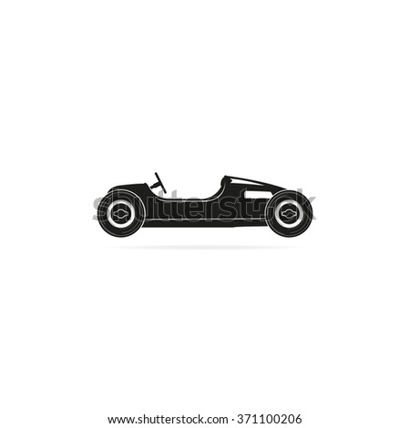 Vintage sport racing car. - stock vector
