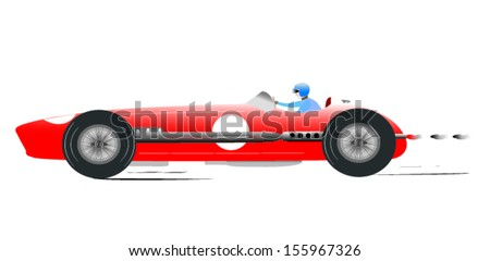 Vintage Sports Racing Car 2 - stock vector