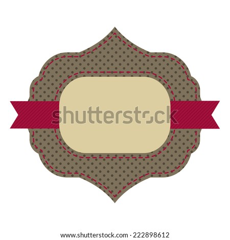 Vintage sticker. Retro style. Vector. - stock vector