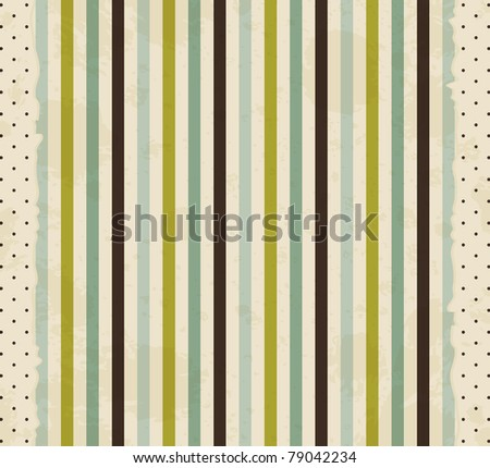 vintage striped background - stock vector