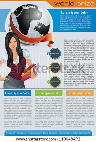 Vintage Style Business Team. Website design vector elements. - stock vector