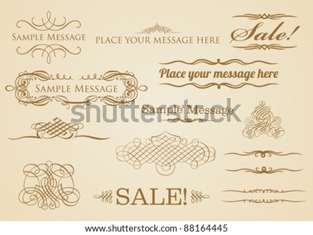 Vintage Style Elements - stock vector