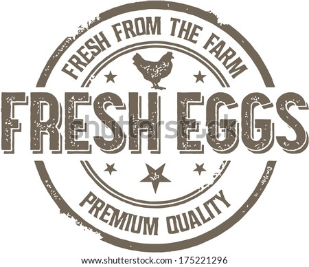 Vintage Style Fresh Eggs Sign - stock vector