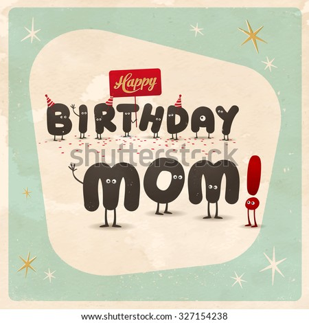 Vintage Style Funny Birthday Card