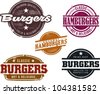 Vintage Style Hamburger Menu Graphics - stock vector