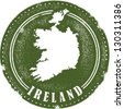 Vintage Style Ireland Country Stamp - stock vector