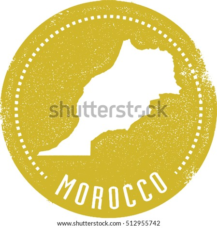 Vintage Style Morocco Country Stamp
