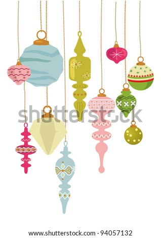 Vintage style ornaments for Christmas