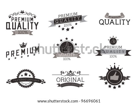 Vintage Style Premium Quality with Nine Design Element , collection 01 - stock vector