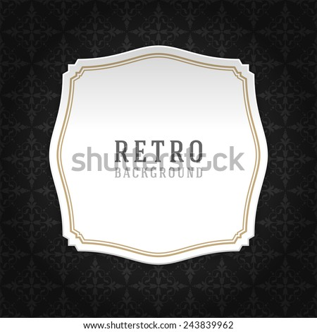 Vintage style white paper label design and ornament pattern vector background. Retro luxury frame badge premium quality design element.  - stock vector