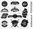 Vintage Styled Premium Quality And Satisfaction Guarantee Label Collection - stock vector