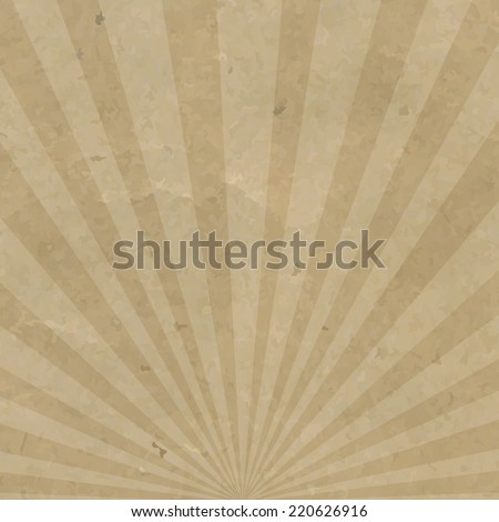 Vintage Sunburst Cardboard, Vector Illustration - stock vector