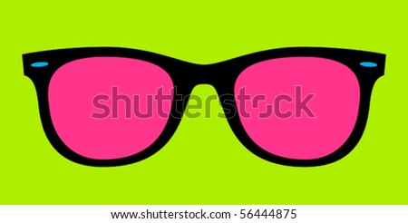 vintage sunglasses - stock vector