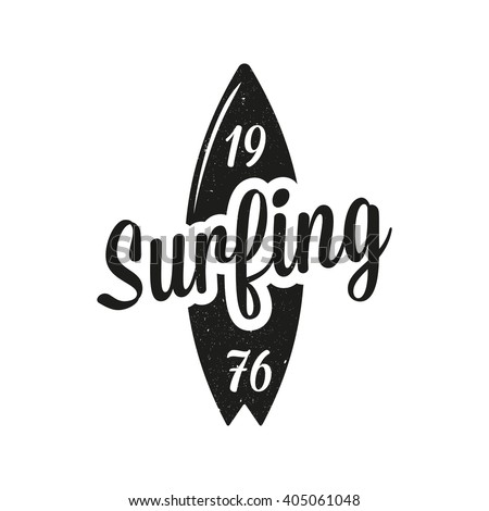 vintage surfing emblem surf logo stock vector royalty free