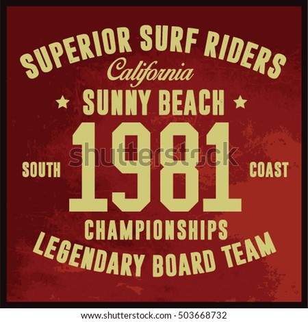 Vintage Surfing Graphics And Emblems