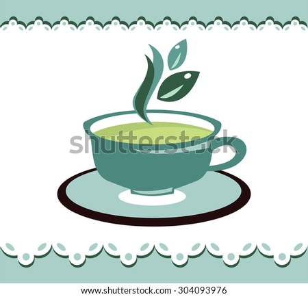 vintage tea cup  - stock vector