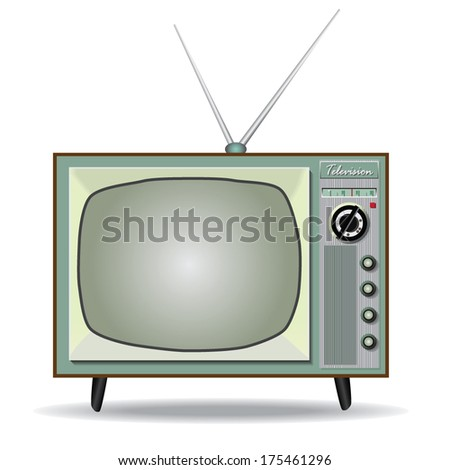 vintage television vector , TV movie and entertainment sign icon