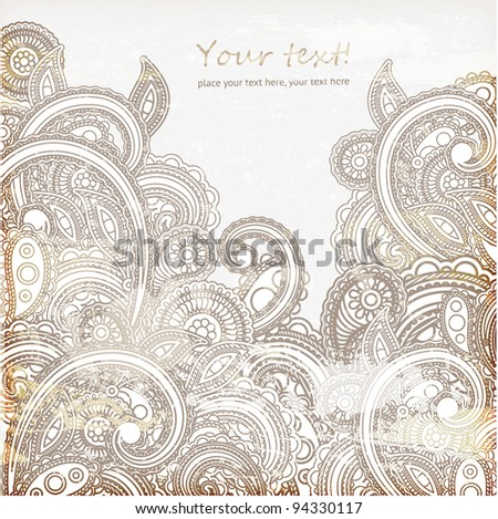 Vintage template, vector - stock vector