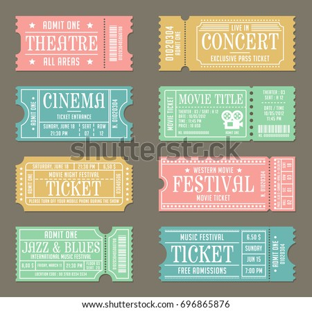 Vintage Ticket Images RoyaltyFree Images Vectors – Movie Theater Ticket Template