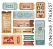 Vintage tickets - stock photo