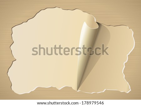 Vintage torn paper with place for your text. Illustration - stock vector