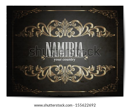 Vintage Touristic Greeting Card -Namibia- Vector EPS10.  - stock vector