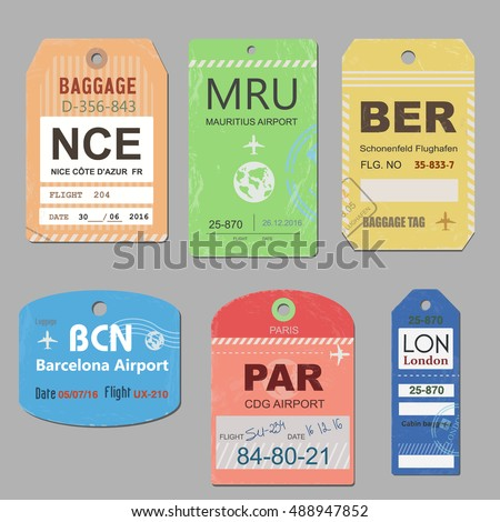 Vintage Luggage Tag Stock Images, Royalty-Free Images & Vectors ...