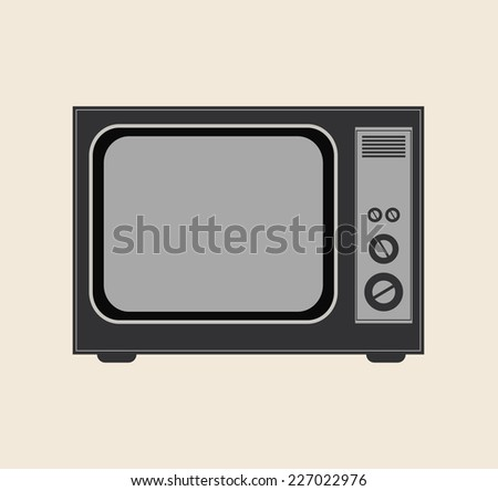 vintage tv icon vector illustration template for design
