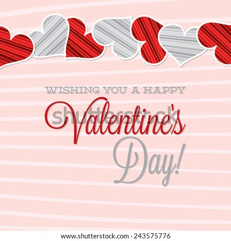 Vintage Typographic Valentine's Day card in vector format. - stock vector