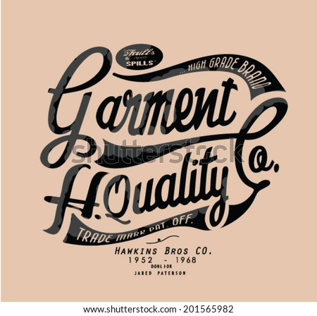vintage typography for apparel - stock vector
