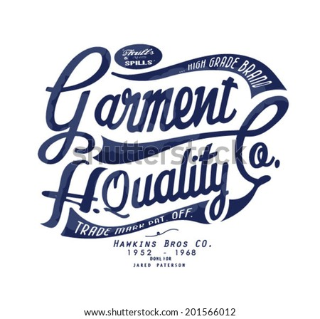 vintage typography for apparel 4 - stock vector