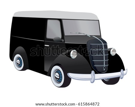 Front White Truck On Transparent Background Stock Vector