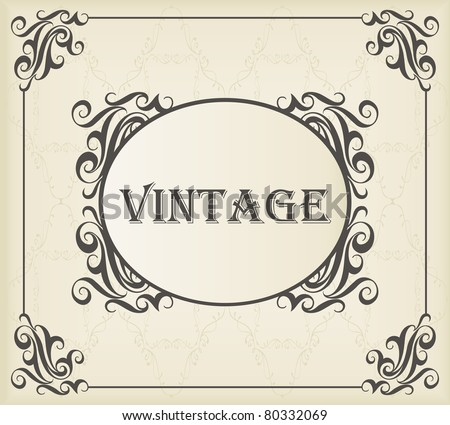 Vintage vector background with copy space