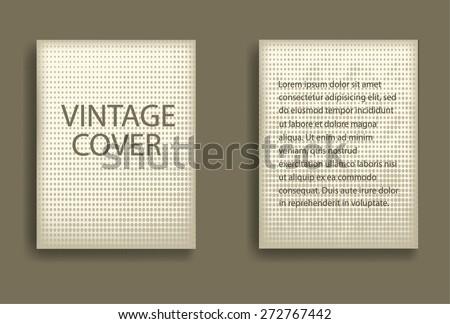 Vintage Vector Brochure Or Layout Magazine