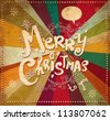 Vintage vector Christmas card - stock photo