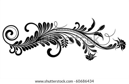 Vintage vector flower pattern decoration - stock vector
