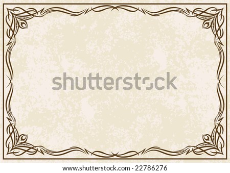 Vintage vector frame (Lot of similar images in my gallery. Please visit) - stock vector