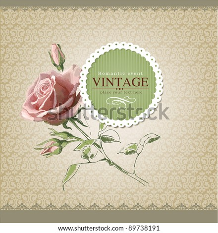 Vintage vector labels - stock vector