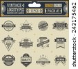 Vintage vector logotypes, insignias, badges and labels. Pack 1. - stock vector