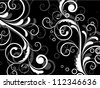 Vintage vector retro background with floral elements - stock vector