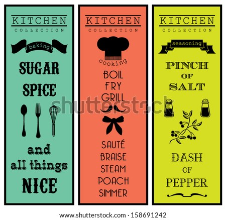 Vintage vector sets - Kitchen Collection - stock vector