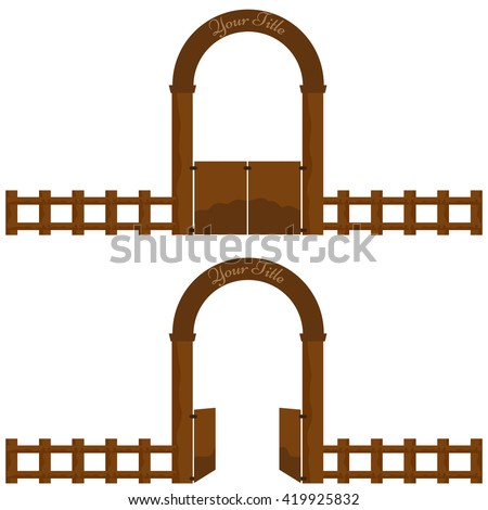 Farm Fence Clipart farm gate stock images, royalty-free images & vectors | shutterstock