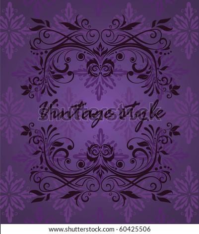 Vintage violet design - stock vector