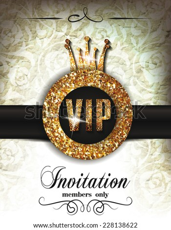 Vip invitation stock images royalty free images vectors vintage vip invitation card stopboris Image collections