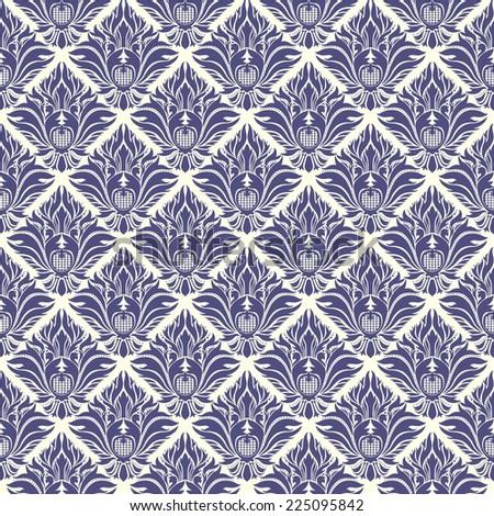 Vintage wallpaper seamless pattern - stock vector